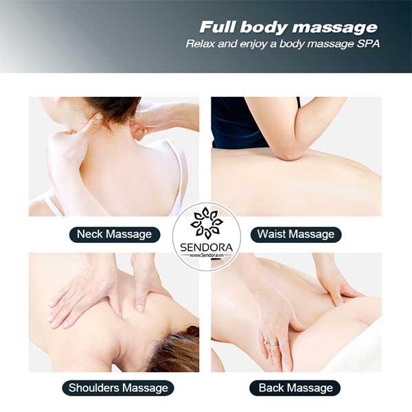 Chức năng massage trên ghế mô phỏng các kỹ thuật massage xoa bóp chuyên sâu