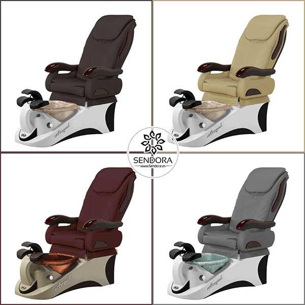 Ghế Pedicure Angel của hãng PSOA có đến 57 màu khác nhau