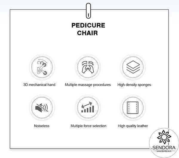6 đặc điểm nổi bật quan trọng nhất của ghế Pedicure Hi-MEC mẫu 1