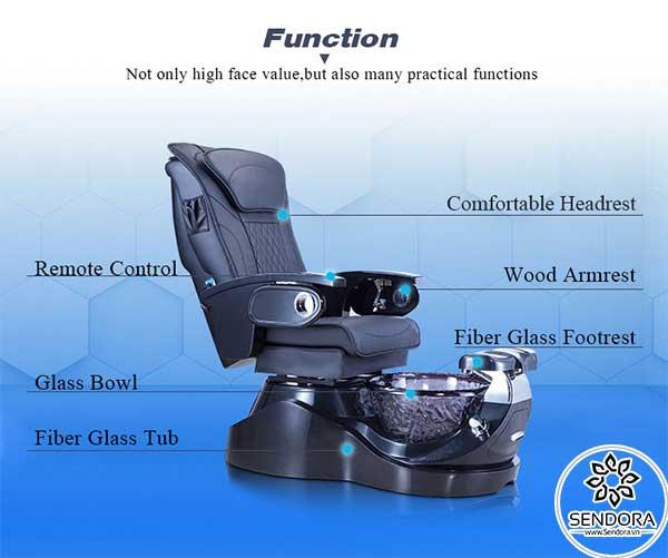 Các bộ phận quan trọng nhất của Ghế Spa Pedicure Hi-MEC mẫu 2