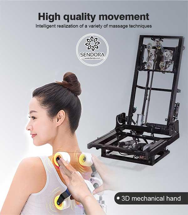 Ghế nail cao cấp Hi-MEC mẫu 2 được trang bị hệ thống massage giúp khách hàng thư giãn trong thời gian ngồi làm nail