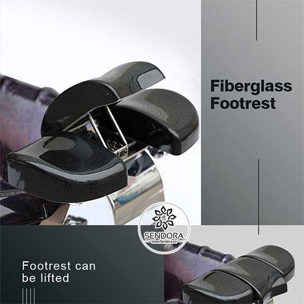 Kệ gác chân làm móng được sản xuất bằng vật liệu nhựa cao cấp gia cố bằng sợi thủy tinh chống cháy và phủ sơn gel chống axeton ở bên ngoài, có thể nâng hạ độ cao theo yêu cầu