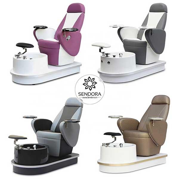 Ghế Pedicure cao cấp Hi-MEC mẫu 5 có 4 màu để lựa chọn là Trắng, Đen, Nâu và Tím sen