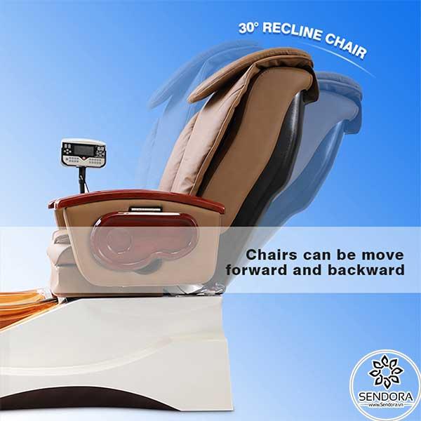 Ghế Spa Pedicure Hi-MEC mẫu 6 có thể ngả ra phía sau 30 độ
