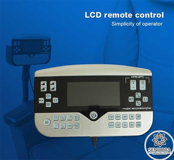 Màn hình LED điều khiển đa chức năng được tích hợp ngay trên ghế, giúp kiểm soát mọi hoạt động quan trọng