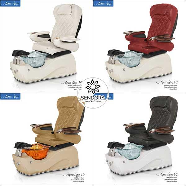 4 màu được ưa chuộng nhất của dòng ghế làm nail cao cấp Aqua 10