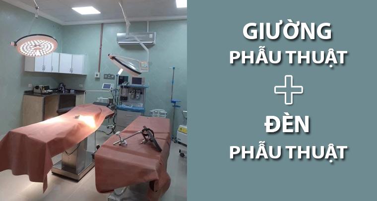 Tham khảo giường phẫu thuật và đèn phẫu thuật