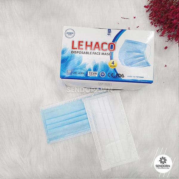 Khẩu trang y tế Lehaco 4 lớp lọc bụi mịn