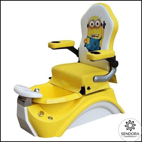 Ghế Pedicure cho trẻ in hình Minion màu vàng