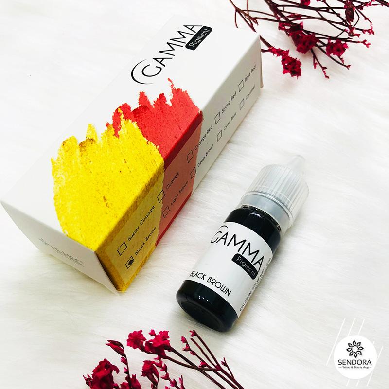 Mực phun mày Gamma Black Brown chính hãng Đài Loan, Mực khắc sợi bằng máy Hairstroke
