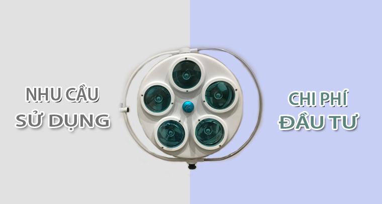 Nhu cầu sử dụng và chi phí đầu tư đèn mổ Halogen