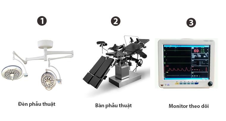 3 thiết bị phòng mổ