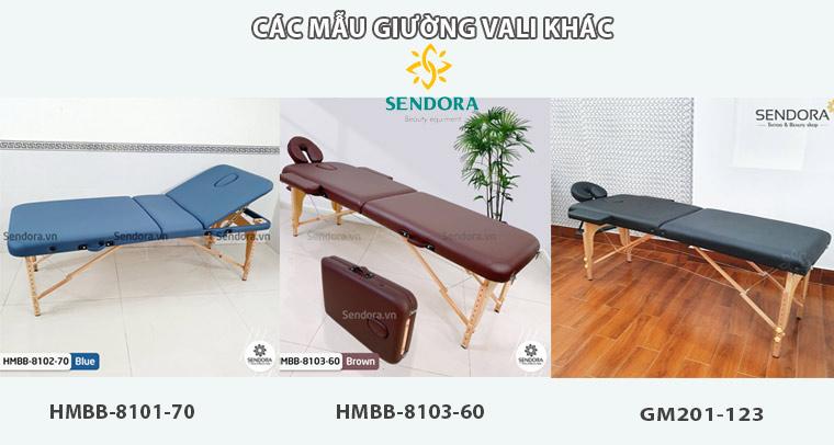Các mẫu giường massage gấp gọn tại Sendora