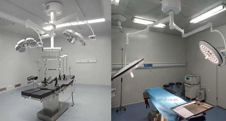 Bàn mổ và đèn mổ phẫu thuật