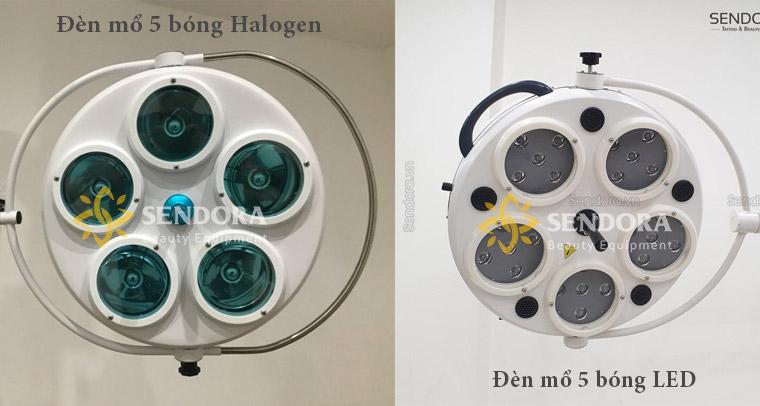 Đèn mổ 5 bóng Halogen và đèn mổ Led