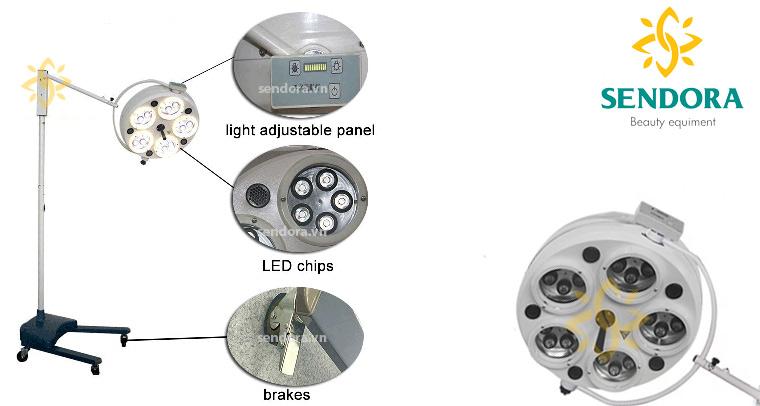 Đèn mổ Led di động 5 bóng 525LS