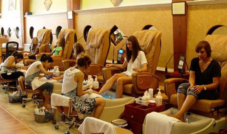 Không gian mô hình nail cao cấp tại nước ngoài