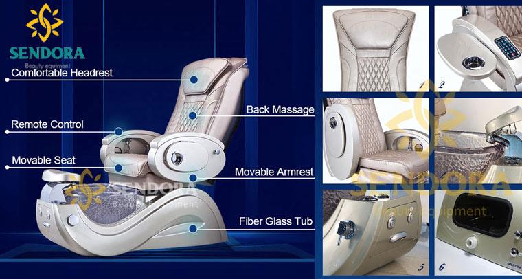 Ghế nail massage cao cấp Pedicure Lux