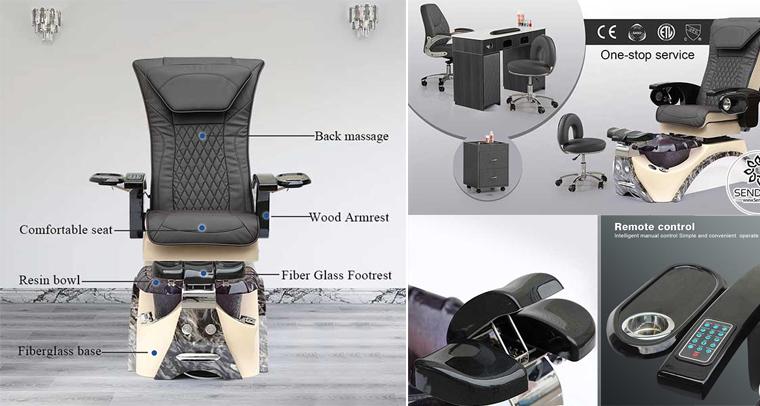 Ghế nail cao cấp Hi-MEC mẫu 4 | Top 1 ghế nail có massage Hot-trend 2021