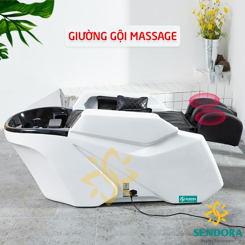 Giường gội đầu massage cao cấp, giường gội trang bị máy massage toàn thân