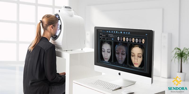 Máy phân tích và chuẩn đoán các vấn đề trên da A-One Smart