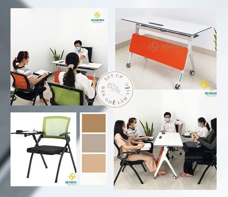 Set up bàn ghế làm việc hiệu quả