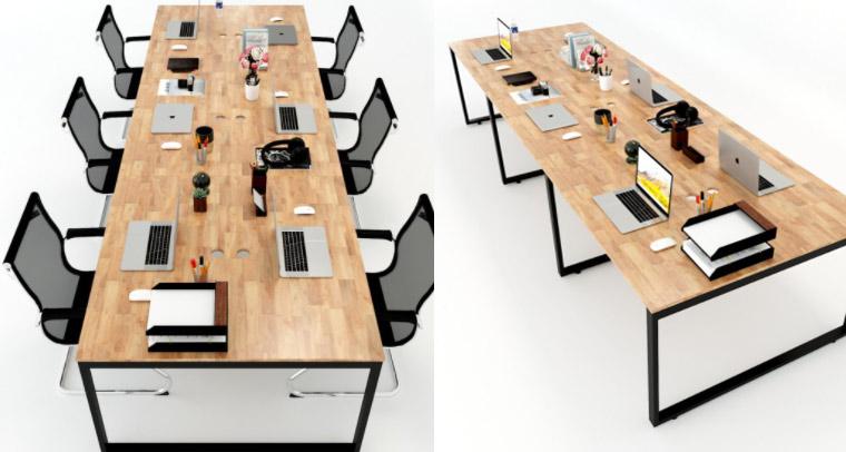 Bộ bàn ghế làm việc văn phòng 6 người
