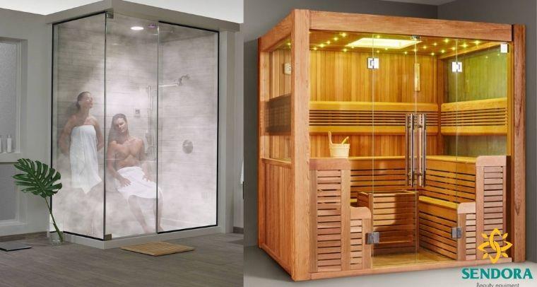 Các loại phòng xông hơi tại nhà phổ biến