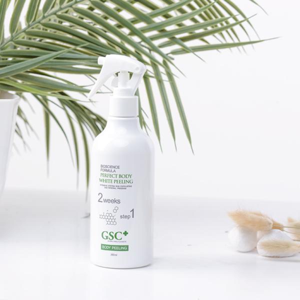 Chai xịt tắm trắng GSC Perfect Body White Peeling dung tích 250ml