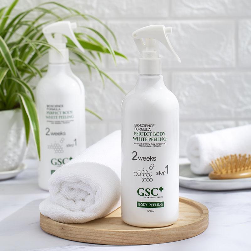 Chai xịt tắm trắng GSC Perfect Body White Peeling