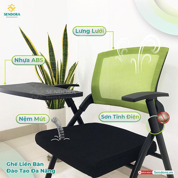 Đặc điểm nổi bật của ghế xếp liền bàn