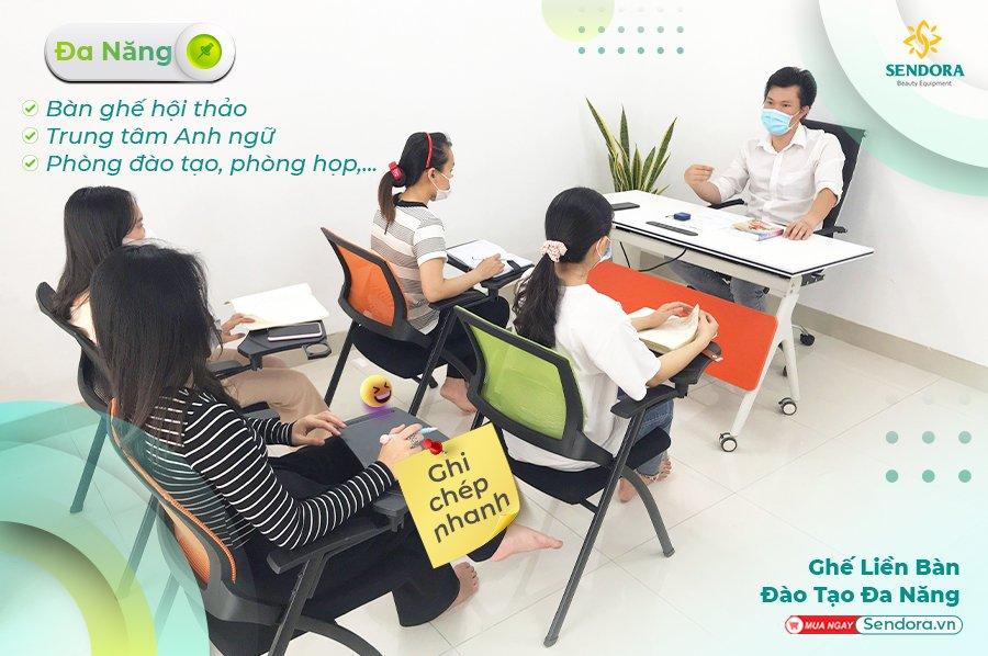 Đào tại nhân viên hiệu quả với ghế liền bàn