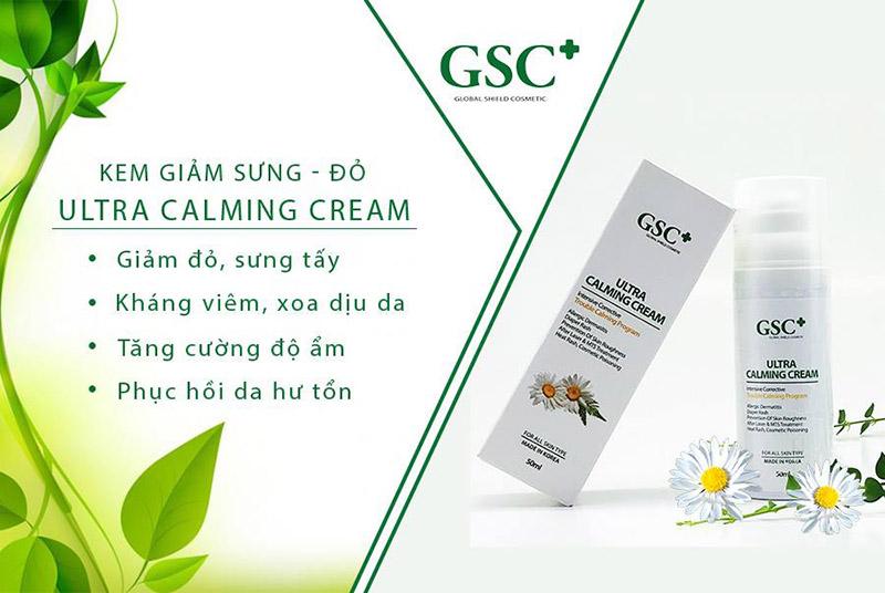 Kem phục hồida, giảm sưng giảm đỏ GSC Ultra Calming Cream 50ml