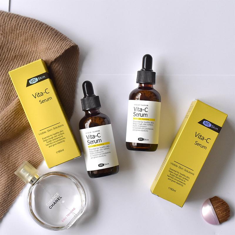 Serum Vita-C Bổ sung làm đầy lớp biểu bì khiến da khỏe mạnh và mịn màng Tăng cường sản xuất Collagen, chống lão hóa, giảm nếp nhăn Làm trắng, làm đều da, giảm thâm nám