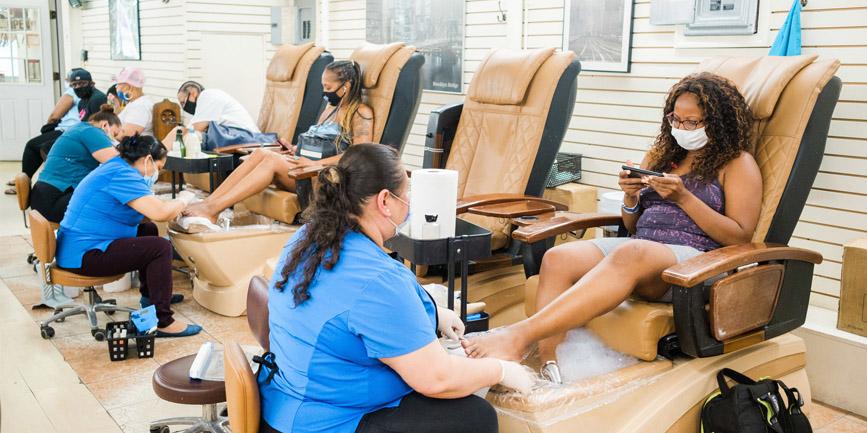 Ghế làm Nail, ghế nail Massage chính hãng
