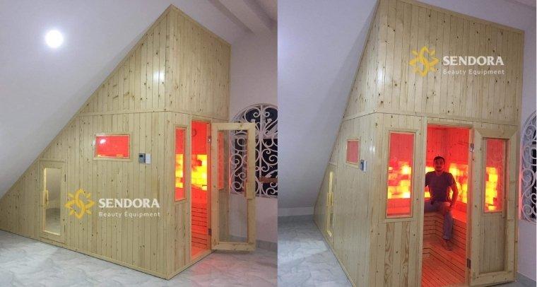 Hình ảnh Sendora xây phòng xông hơi tại nhà cho khách hàng